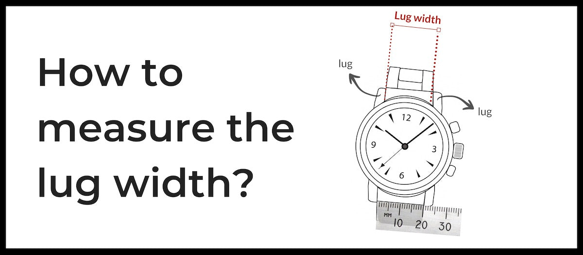 how to measure the lug width of my rolex?