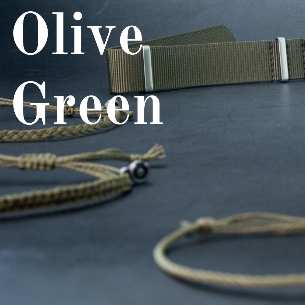 deluxe olive green nato strap and bracelets