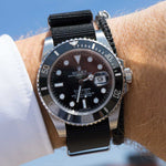 Load image into Gallery viewer, black nato strap rolex 20 mm