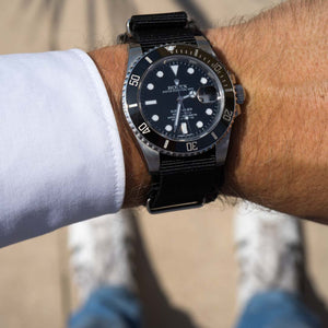 black nato strap Rolex Submariner 20 mm