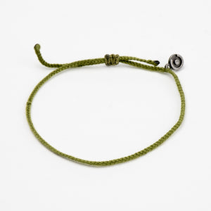 green cotton bracelet for men