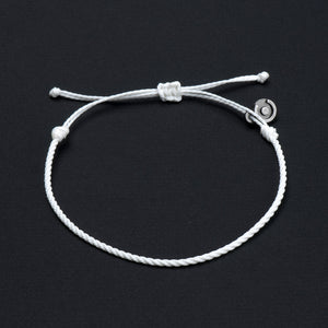 white 2 mm bracelet for men