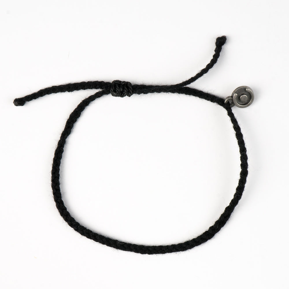 black cotton bracelets