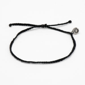 black cotton bracelet for men