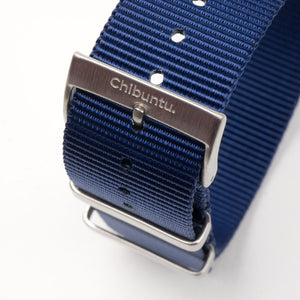 20 mm blue nato watch strap