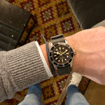 Load image into Gallery viewer, tudor black bay grey nato strap