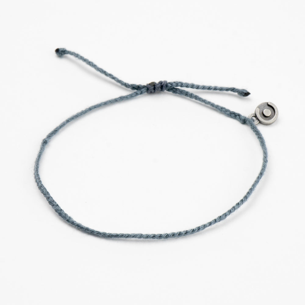 grey cotton bracelet for men