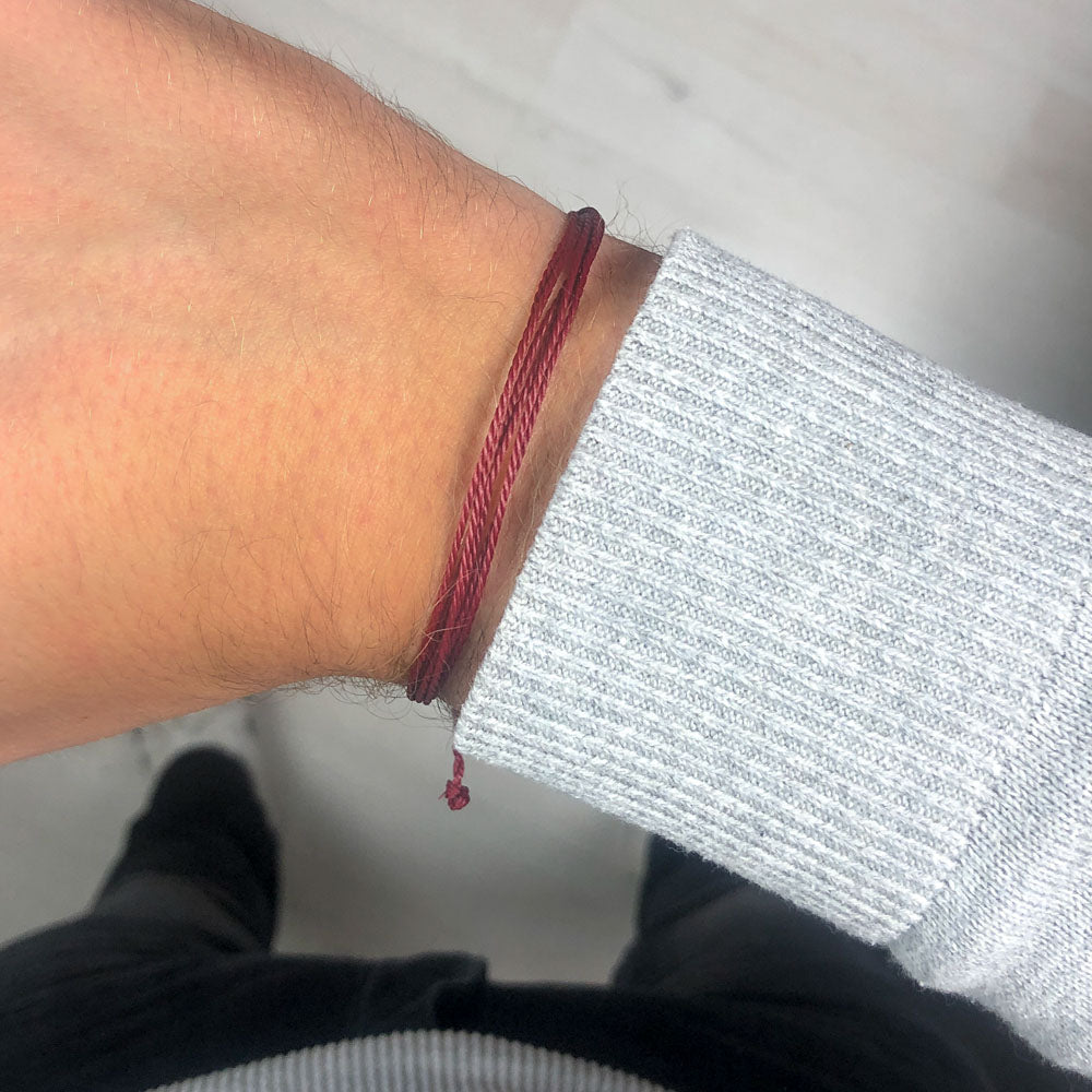 Beau Bordeaux Strings Bracelet