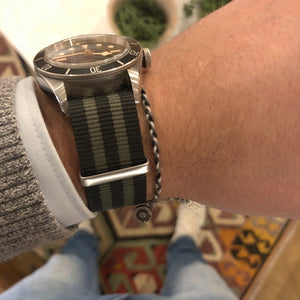 james bond minimal bracelet and nato watch strap