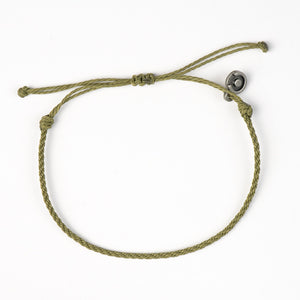 Olive Green Twisted Bracelet