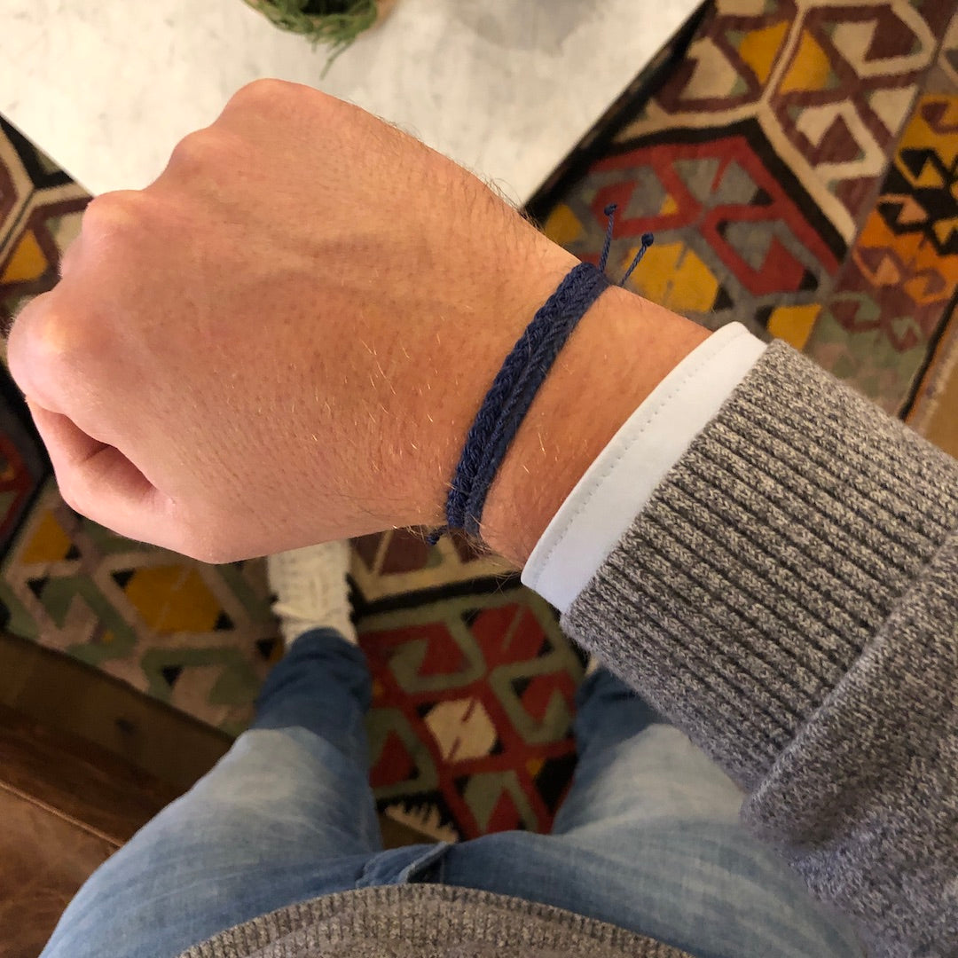 blue bracelets for men