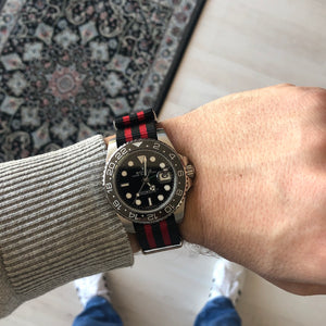 Racing Red & Black Nato Strap