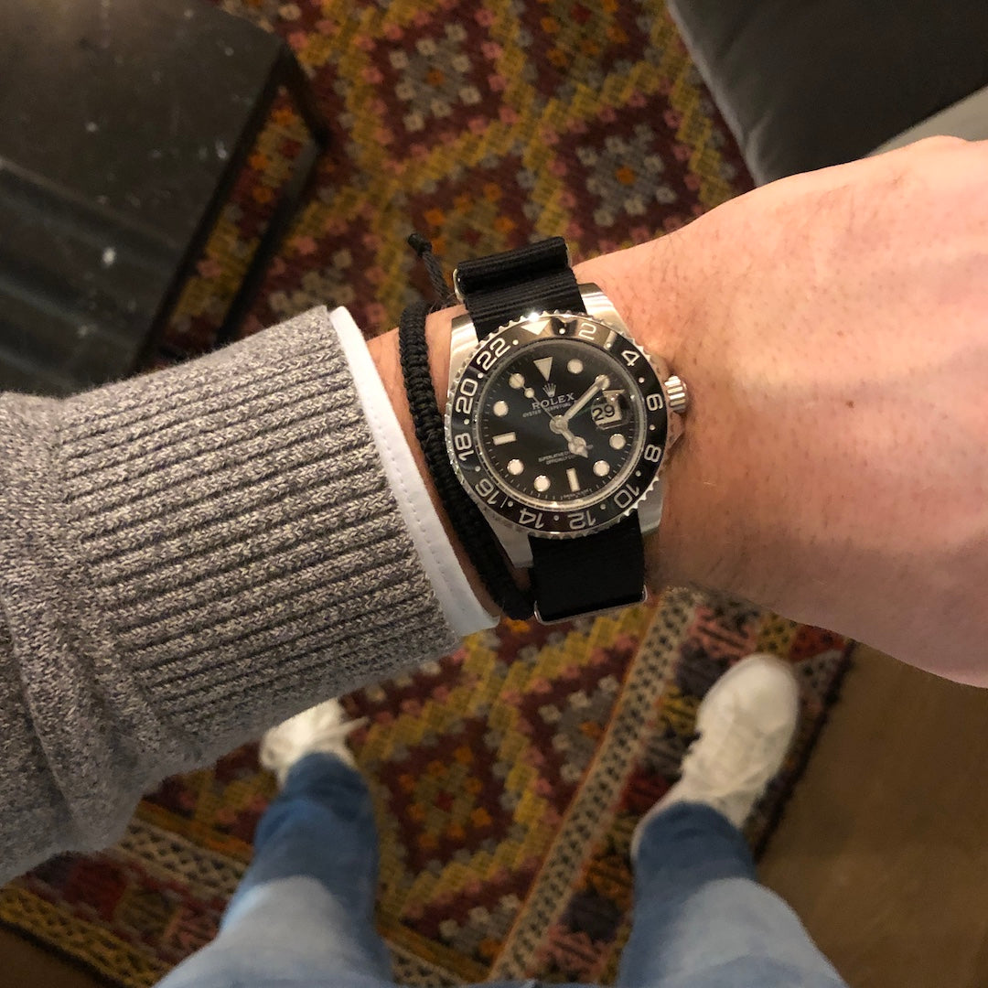 black rolex gmt nato watch strap