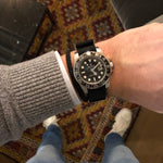 Load image into Gallery viewer, black rolex gmt nato watch strap