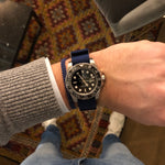 Load image into Gallery viewer, 22 mm blue nato strap