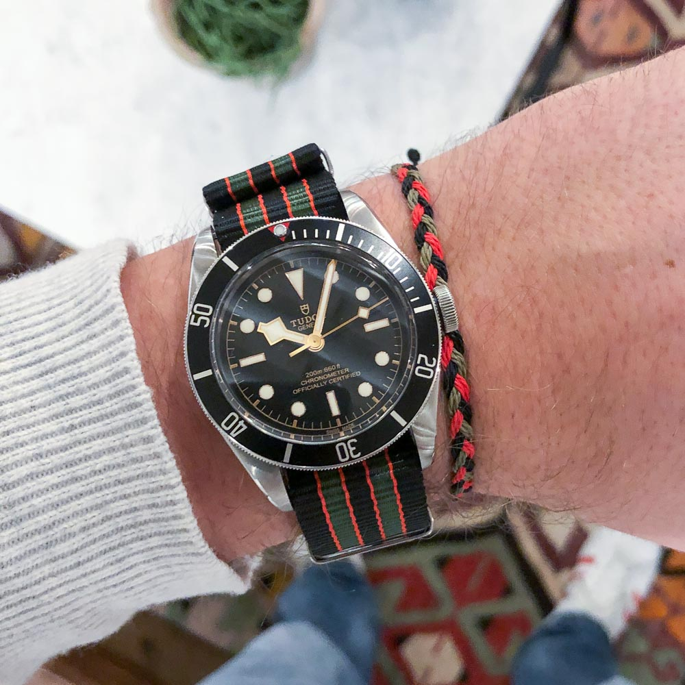 Vintage Bond Nato Strap & Flow pack