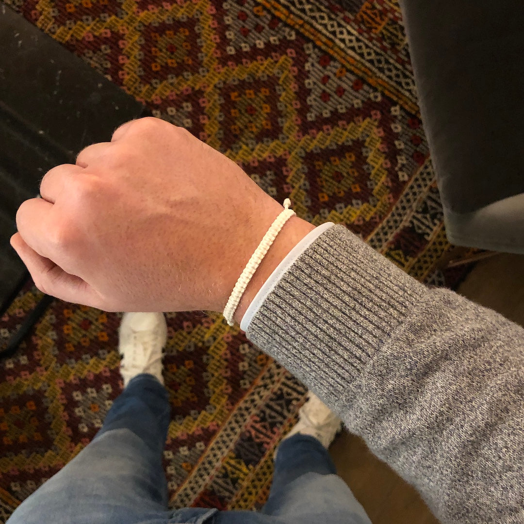 white bracelet for men