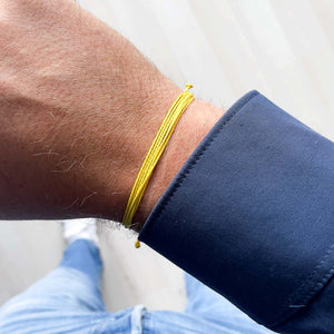 Strings Yellow Bracelet