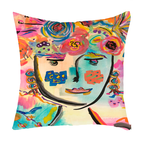 Flower Thoughts Throw Pillow