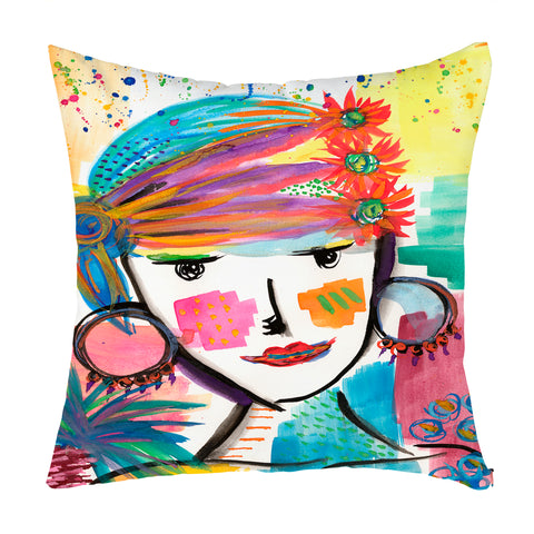 Gypsy Queen Throw Pillow