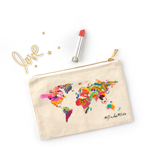 Map of the World Pouch