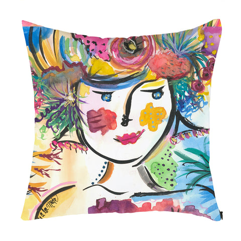 Senorita Margarita Throw Pillow
