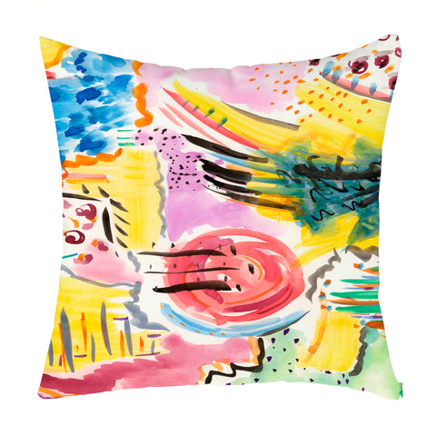 Yellow Joy Throw Pillow