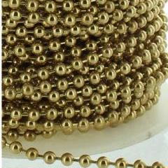 Brass No.10 Metal Chain for Roller, Roman, Vertical Blinds from £0.5 per meter