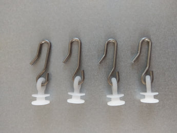 Plastic Rotating Glider/Runner for Curtain Tracks With Metal Hook - Pack of 500 - www.mydecorstore.co.uk