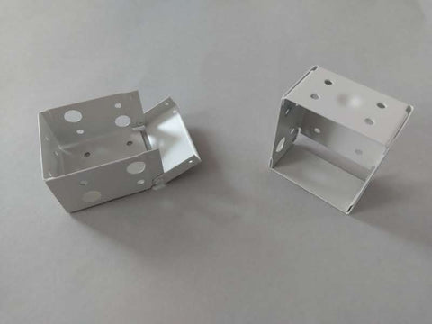 Universal Steel Powder Coated Side Brackets for 50mm x 58mm Wood and Metal Venetian Blinds - Pack of 50 - www.mydecorstore.co.uk