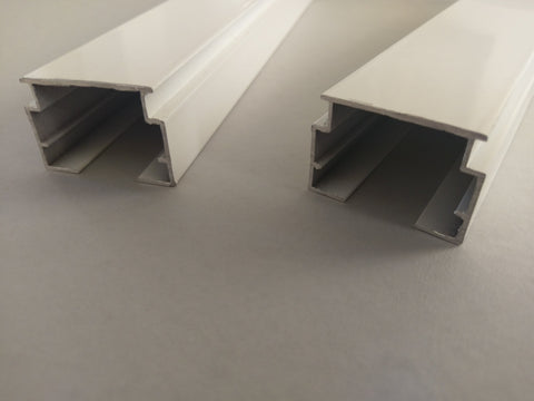 Heavy Duty White Vertical Aluminium Wide Headrail - From £1.95 per meter - www.mydecorstore.co.uk