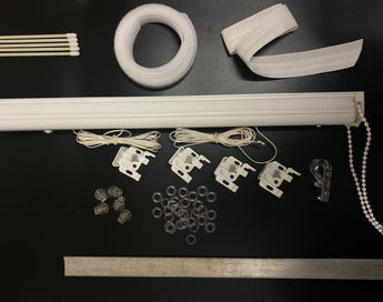 Aluminium Roman Blinds Complete Kit - Made to Measure - Upto 250cm