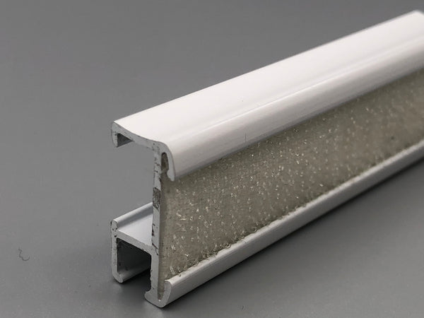 Aluminium Roman Blinds Baton Headrail with Velcro - White Powder Coated from £2.5/meter