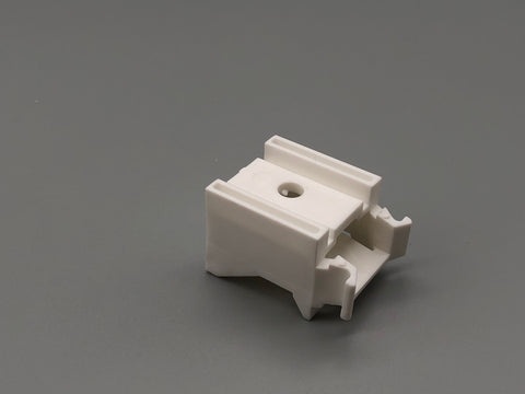 Plastic Wall & Ceiling Mount Bracket with for Aluminium Baton Roman Systems - 35mm Extension - Pack of 50