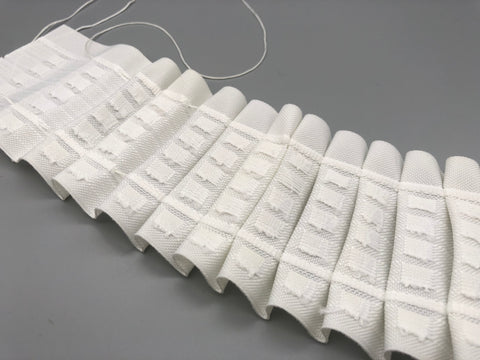 "Pencil Pleat Curtain Header Tape 7.5cm (3"") Wide - White - 100% Polyester - 100 Yards / Curtain Header Tape - www.mydecorstore.co.uk"