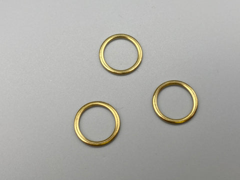 Solid Gold Curtain & Roman Blinds Rings - Different Sizes - Metal brass rings for Curtains Roman Blinds Pack of 100 - www.mydecorstore.co.uk