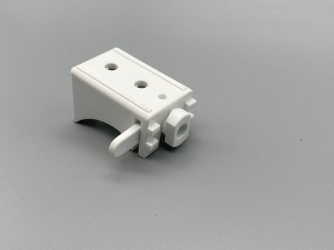 Plastic Wall & Ceiling Mount Swivel Bracket - 40mm Extension - for Aluminium Baton Roman Systems - Pack of 100 - www.mydecorstore.co.uk