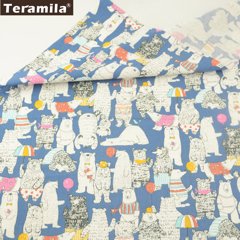 Lovely Bears Design 100% Cotton Twill Fabric Home Textile Sewing Bedding Quilt Cloth Crafts