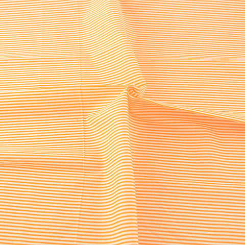 Orange Strips Style 100% Cotton Plain Fabrics Sewing Tissue Patchwork Fabric Home Textile Crafts