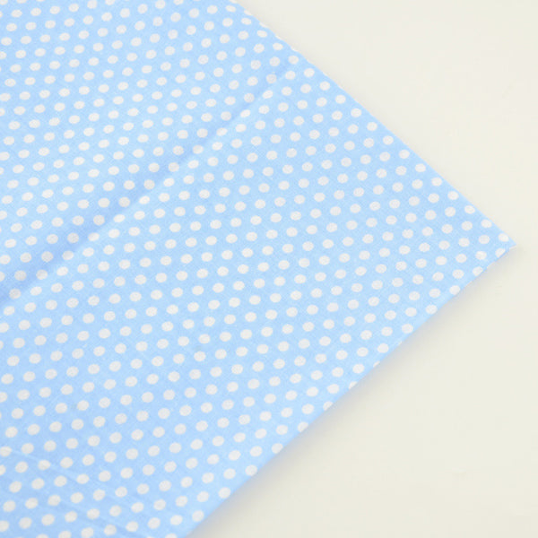 Blue And White Dots Design 100% Cotton Fabric Home Textile Clothing Sewing Cloth Decoration