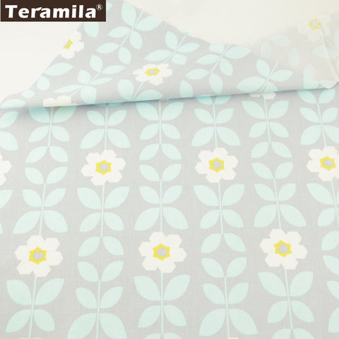 Home Textile Sunflower Design 100% Gray Cotton Twill Fabric Scrapbooking Sewing Quilting Crafts