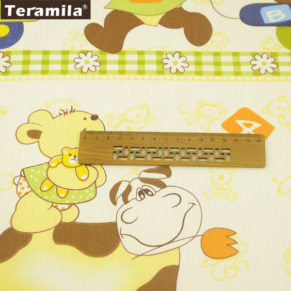 Quilting Lovely Cartoon Pattern Cushion 100% Cotton Twill Fabric Meter Fabric For Sewing Patchwork