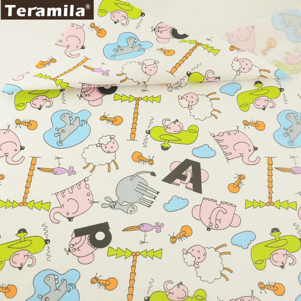 Bedding Set 100% Cotton Twill Fabric Cute Animal Pattern Sewing Dolls Quilting Scrapbooking