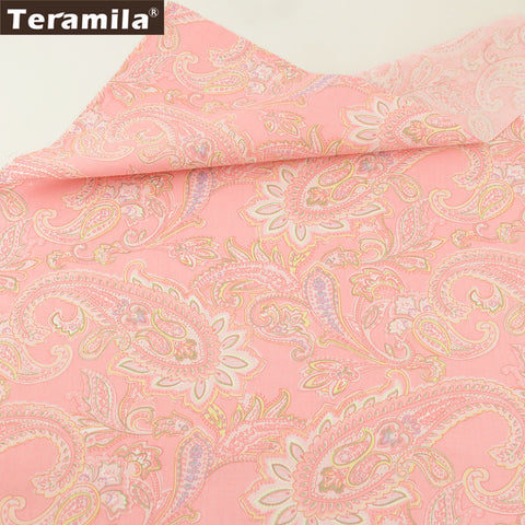 New Arrival Sewing Elegant Pink Flowers Pattern Dolls Cotton Twill Fabric Bedding Set Dolls Pillows