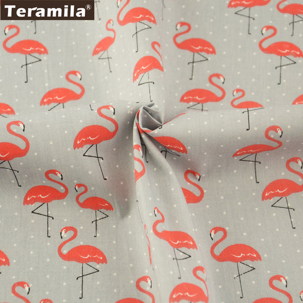 Pillows 100% Cotton Twill Fabric Red Crowned Crane Pattern Bedding Set Dolls Girl Dress Quilting