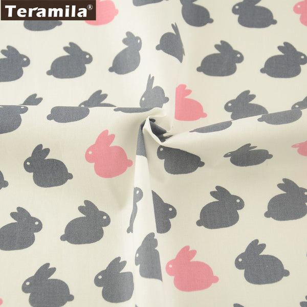 Dolls 100% Cotton Twill Fabric Meter Fabric For Sewing Rabbits Pattern Curtains Pillows Decorations