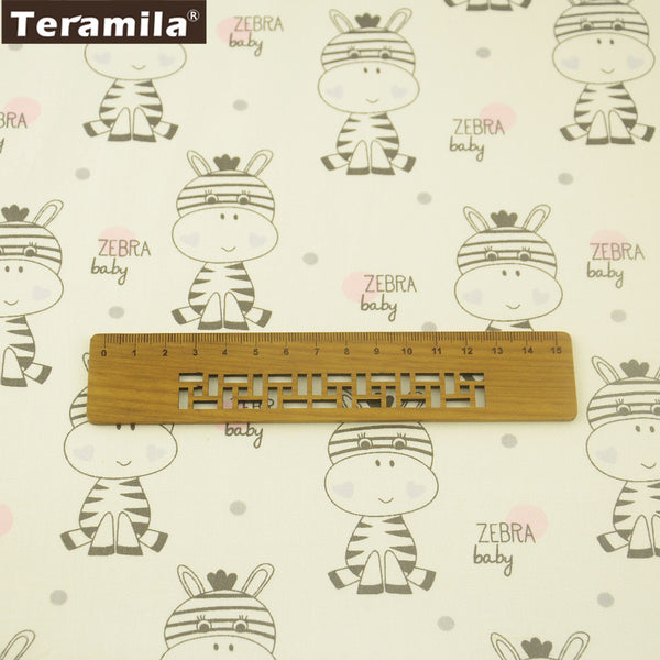 Cute Zebra Design 100% Cotton Twill Fabric Meter Fabric For Sewing Pillows Quilting Clothing