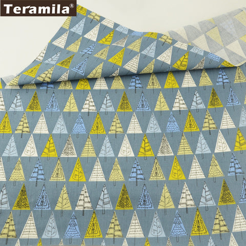 100% Cotton Twill Fabric Cute Trees Design Bedding Set Dolls Quilting Clothing Crafts Patchwork