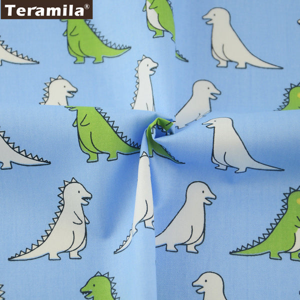 New Arrival  Cute Dinosaur Pattern Meter Fabric For Sewing 100% Cotton Twill Fabric Bedding Set