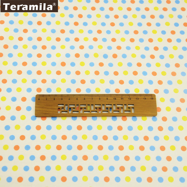 New Arrival Cotton Twill Fabric Bedding Set Decorations Colorful Dots Design Scrapbooking Hat